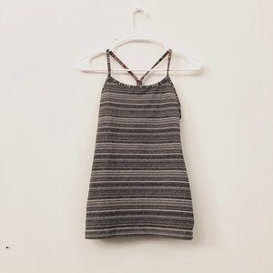 Lululemon Power Y Tank Heather Grey Stripes